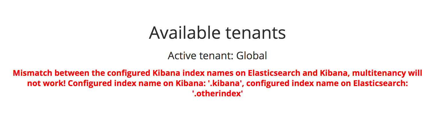 Kibana Multitenancy | Search Guard | Security for Elasticsearch