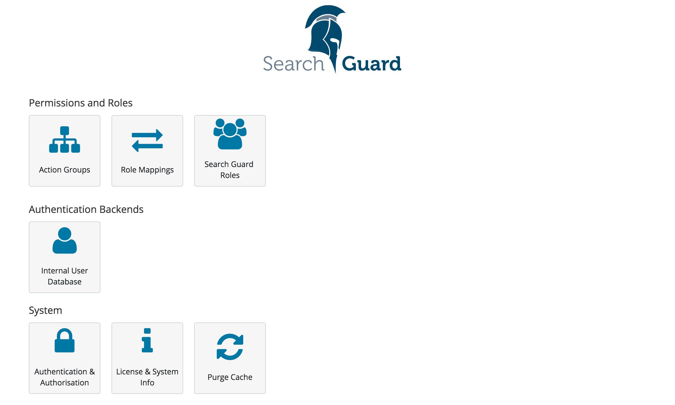Configuration GUI   Search Guard   Security for Elasticsearch